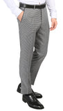 Men's Hilton Skinny Slim Fit Houndstooth Shawl Lapel 2pc Tuxedo - FHYINC