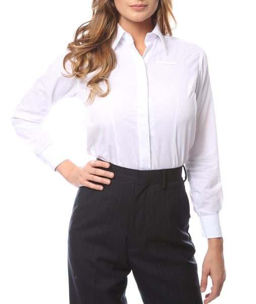 Hallmark Womens White Dress Shirt