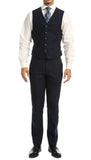 Bradford Navy Slim Fit 3pc Tweed Suit - FHYINC best men's suits, tuxedos, formal men's wear wholesale