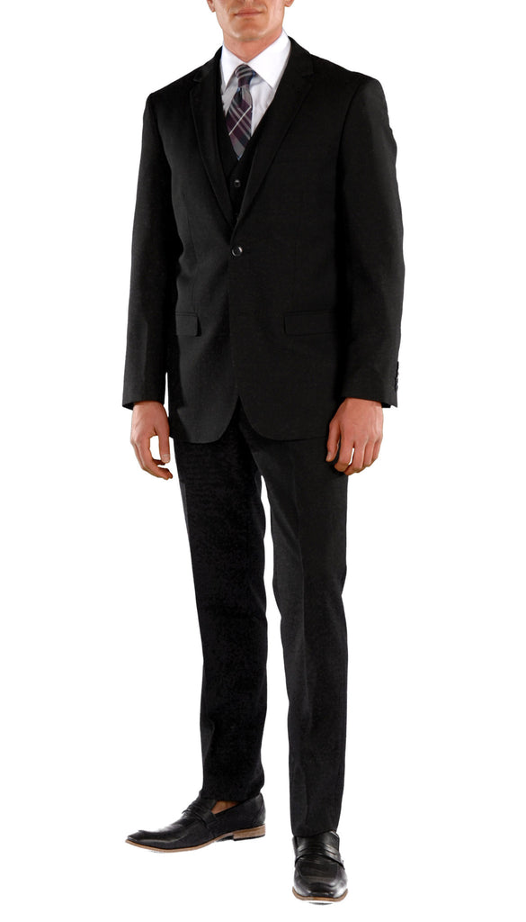Black Slim Fit Suit  - 3PC - JAX - FHYINC best men