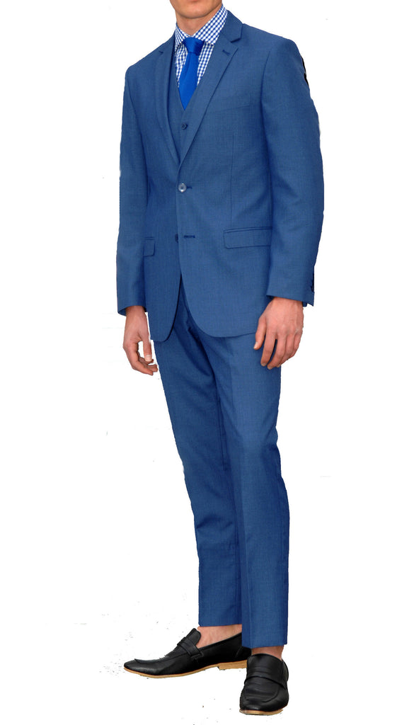 New Blue Slim Fit Suit - 3PC - JAX - FHYINC best men