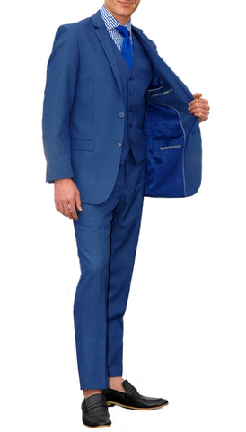 New Blue Slim Fit Suit - 3PC - JAX