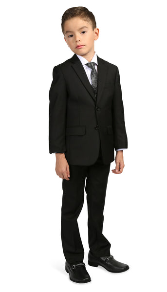Ferrecci Boys JAX JR 5pc Suit Set Black - FHYINC best men's suits, tuxedos, formal men's wear wholesale