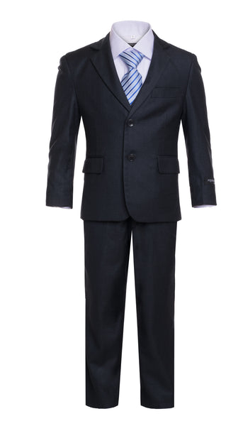 Ferrecci Boys JAX JR 5pc Suit Set Charcoal - FHYINC best men's suits, tuxedos, formal men's wear wholesale