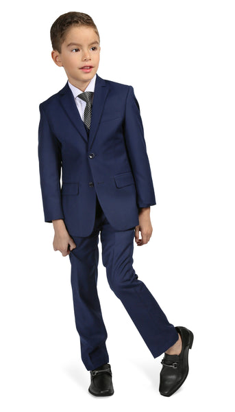 Ferrecci Boys JAX JR 5pc Suit Set Indigo - FHYINC best men's suits, tuxedos, formal men's wear wholesale
