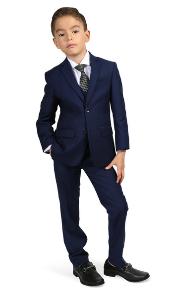 Ferrecci Boys JAX JR 5pc Suit Set Navy - FHYINC best men's suits, tuxedos, formal men's wear wholesale