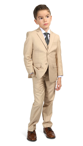 Ferrecci Boys JAX JR 5pc Suit Set Tan - FHYINC best men's suits, tuxedos, formal men's wear wholesale