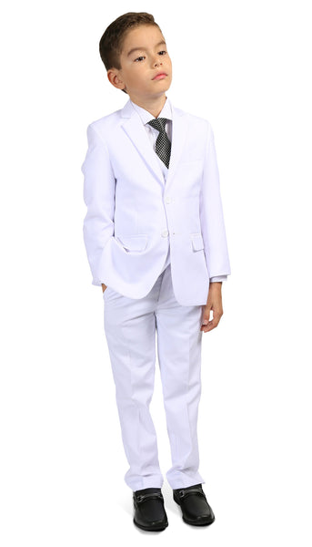 Ferrecci Boys JAX JR 5pc Suit Set White - FHYINC best men's suits, tuxedos, formal men's wear wholesale