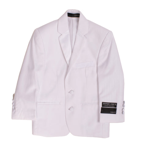 Boys White KTUX 3pc Premium Tuxedo Suit