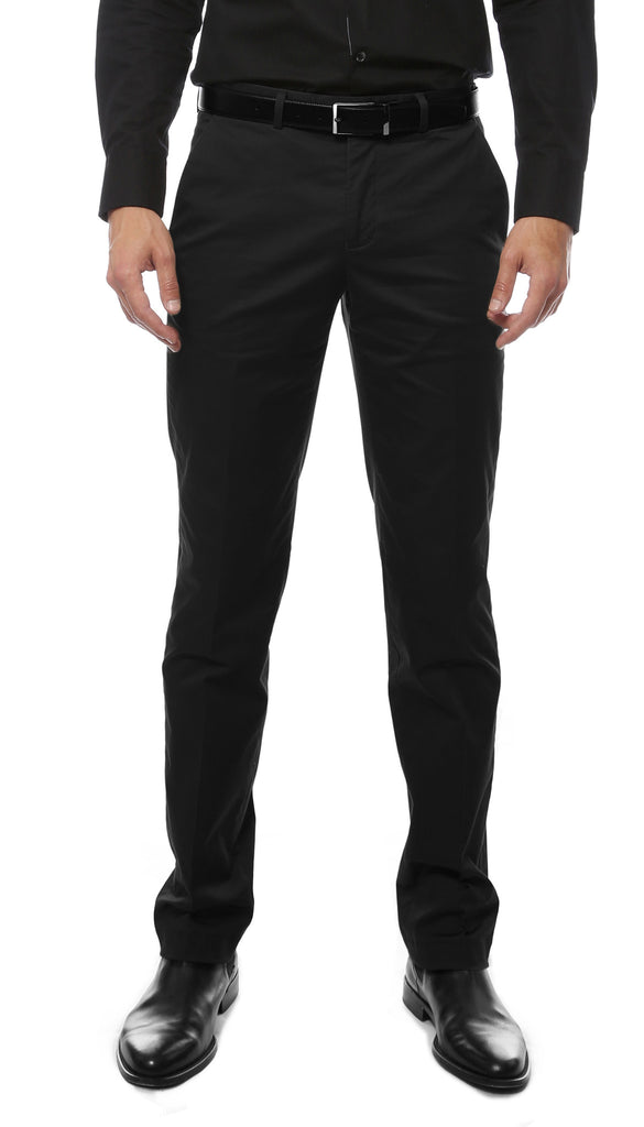 Zonettie Kilo Black Straight Leg Chino Pants - FHYINC best men