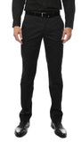 Zonettie Kilo Black Straight Leg Chino Pants - FHYINC best men's suits, tuxedos, formal men's wear wholesale