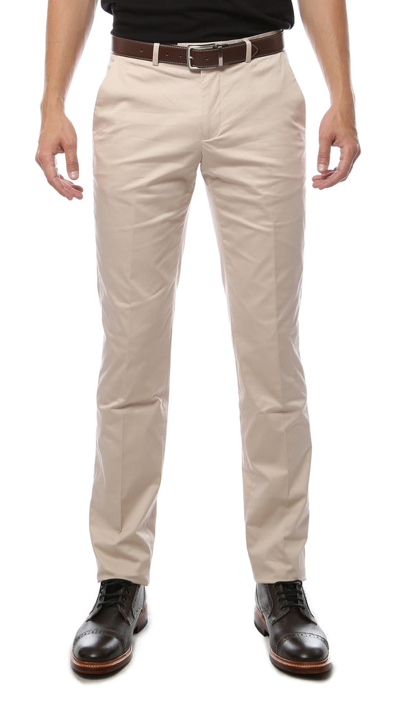 Zonettie Kilo Bone Straight Leg Chino Pants - FHYINC best men