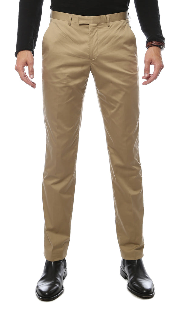 Zonettie Kilo Khaki Straight Leg Chino Pants - FHYINC best men