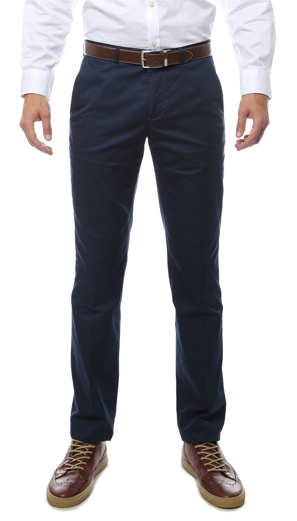 Zonettie Kilo Navy Straight Leg Chino Pants - FHYINC best men