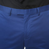 Zonettie Kilo Royal Blue Straight Leg Chino Pants - FHYINC best men's suits, tuxedos, formal men's wear wholesale