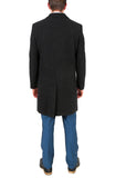 'Klein' Men's Wool Charcoal Top Coat - FHYINC best men's suits, tuxedos, formal men's wear wholesale