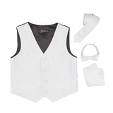 Ferrecci Boys 300 Series Vest Set White - FHYINC best men's suits, tuxedos, formal men's wear wholesale