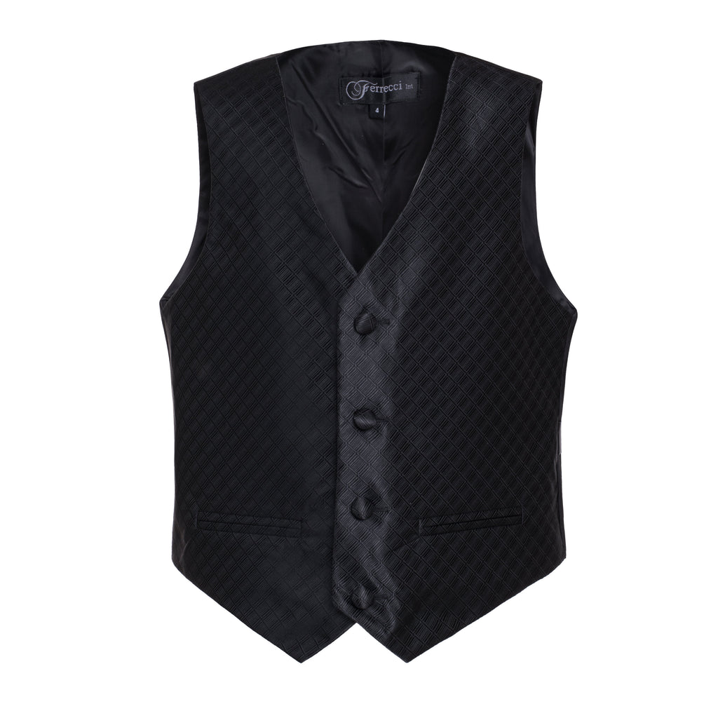 Ferrecci Boys 300 Series Vest Set Black - FHYINC best men