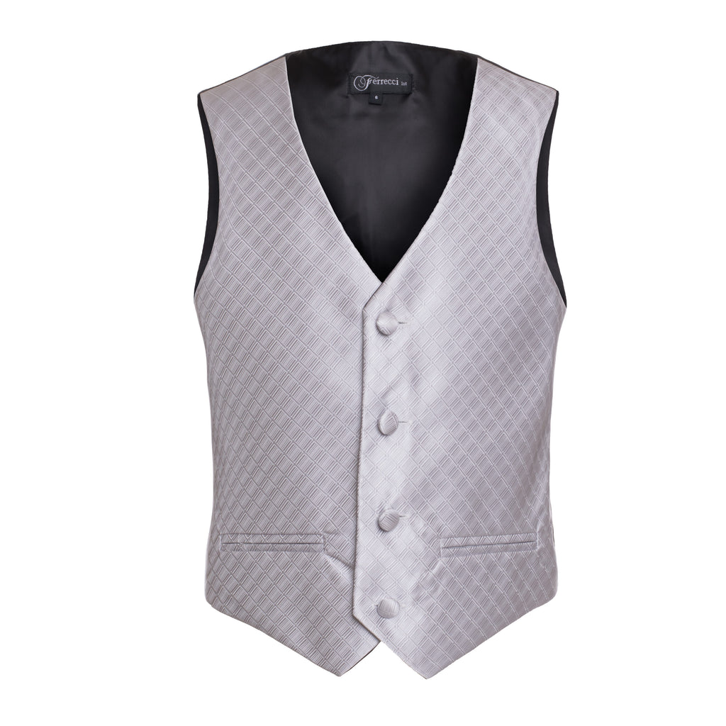 Ferrecci Boys 300 Series Vest Set Silver - FHYINC best men