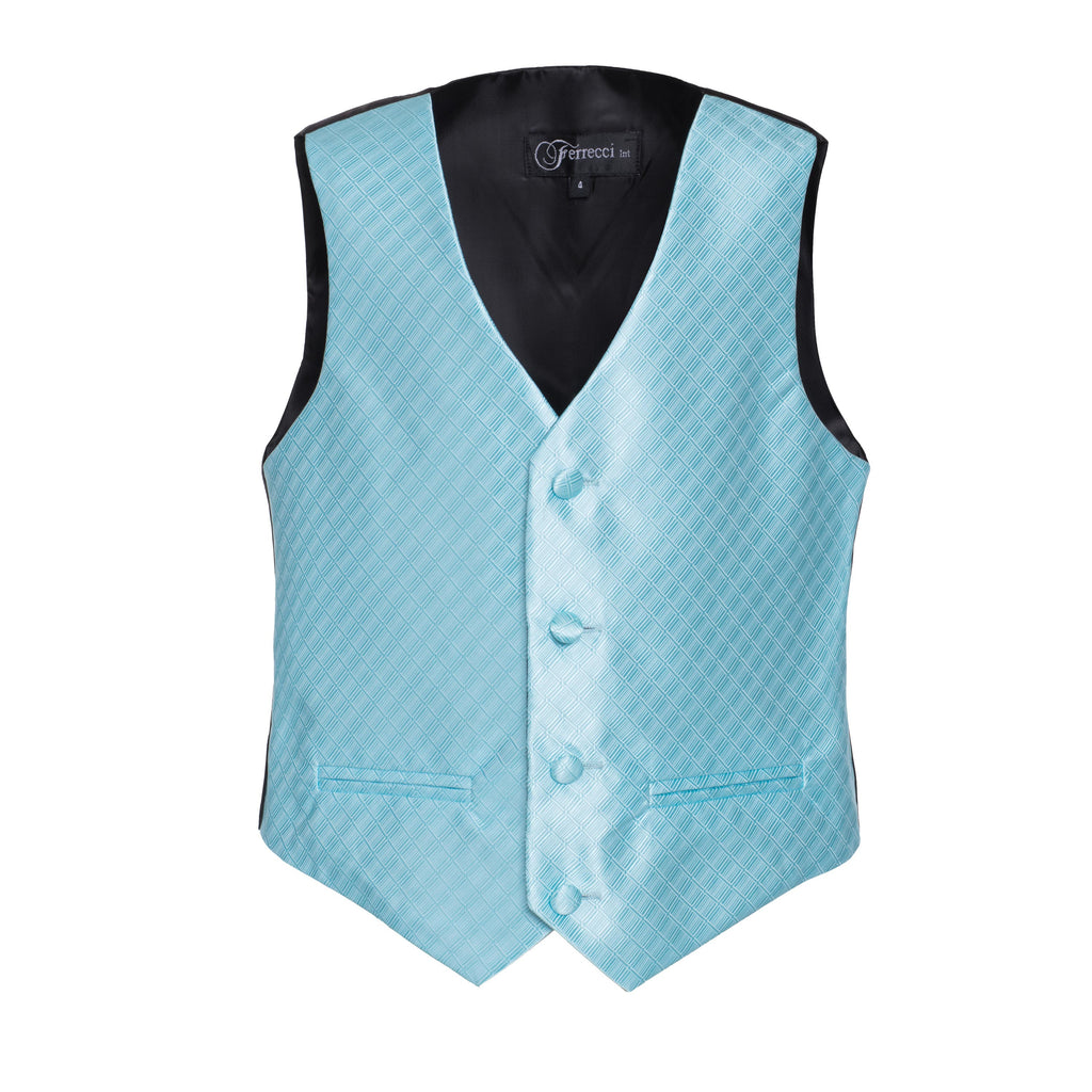 Ferrecci Boys 300 Series Vest Set Turquoise - FHYINC best men