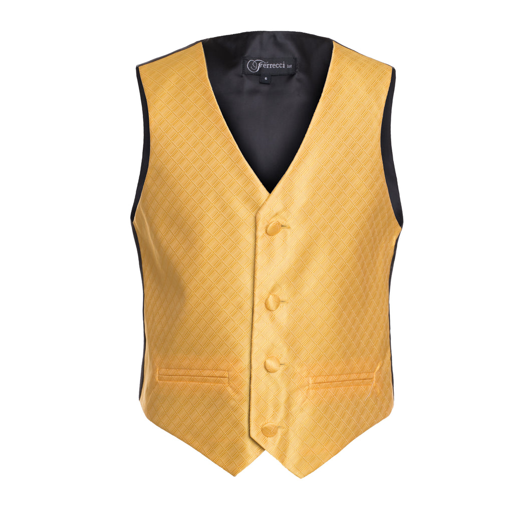 Ferrecci Boys 300 Series Vest Set Gold - FHYINC best men