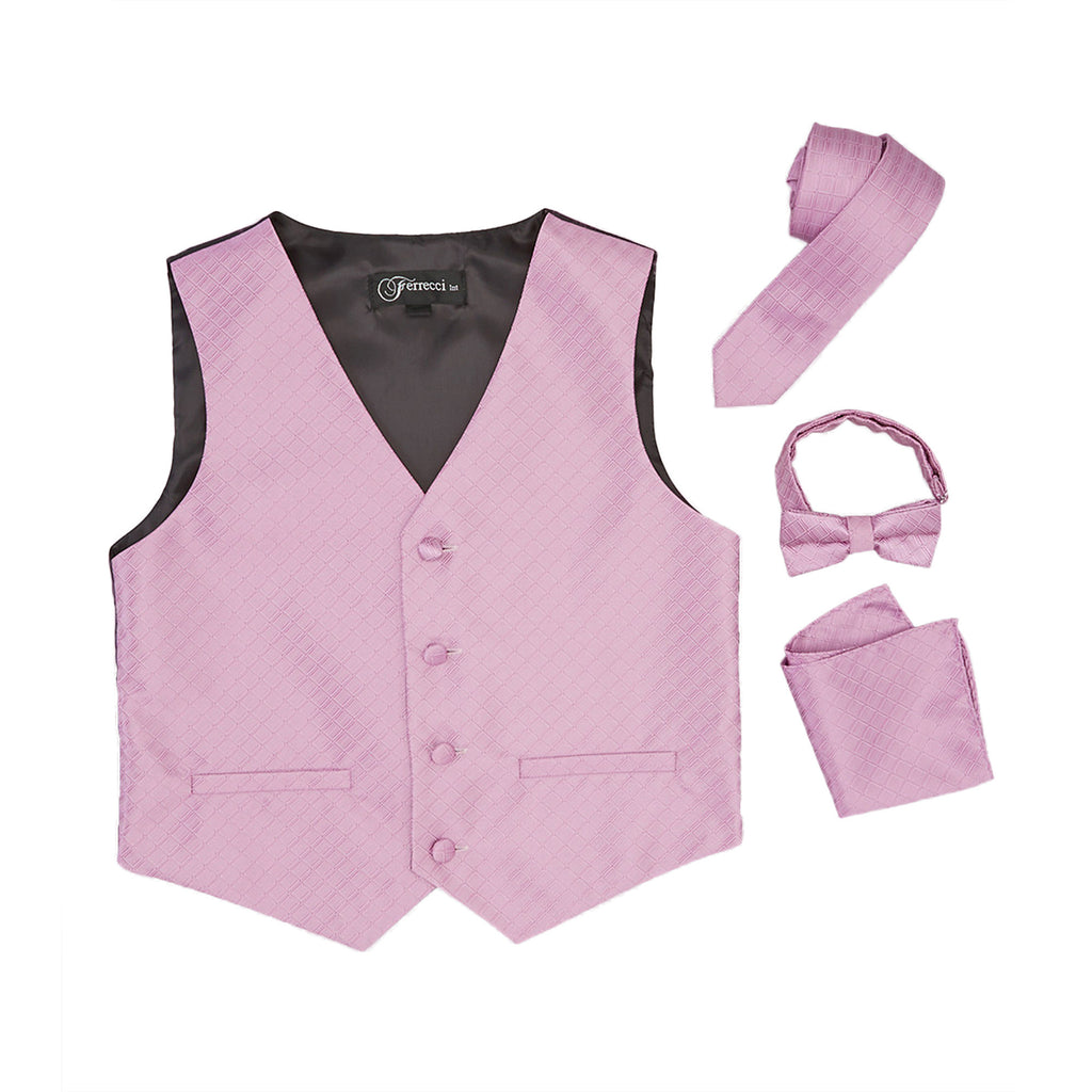 Premium Boys Lavender Diamond Vest 300 Set