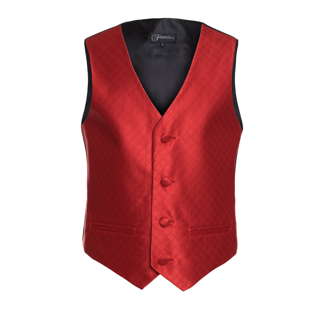 Ferrecci Boys 300 Series Vest Set Red - FHYINC best men