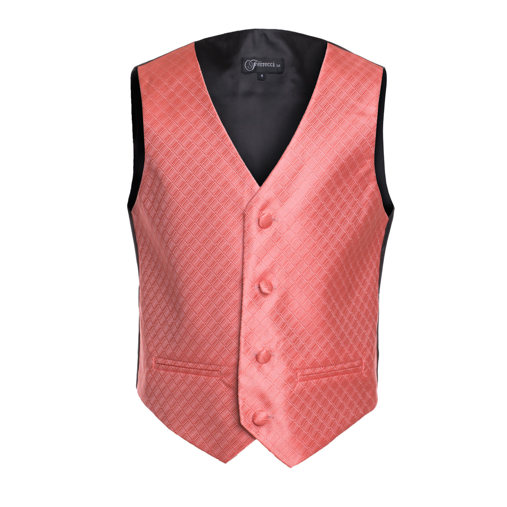 Ferrecci Boys 300 Series Vest Set Coral - FHYINC best men