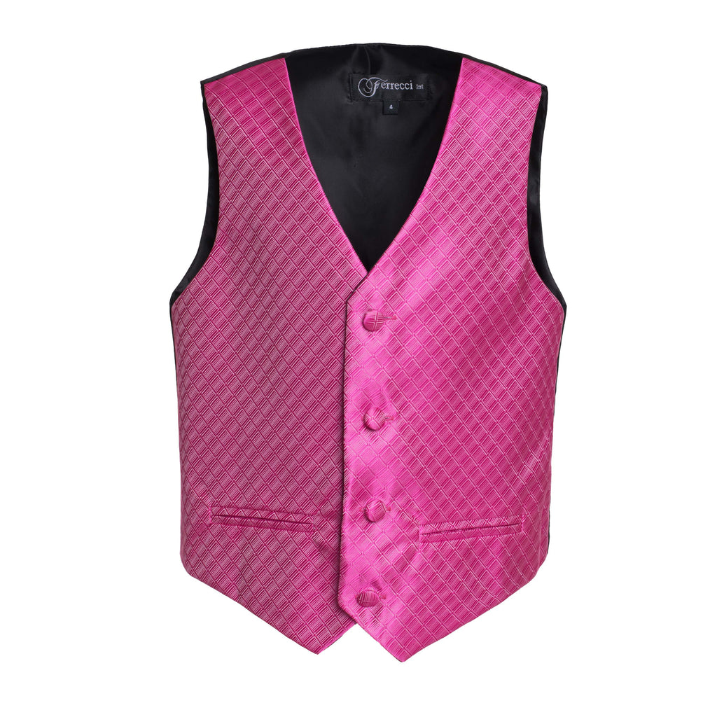 Ferrecci Boys 300 Series Vest Set Fuschia - FHYINC best men