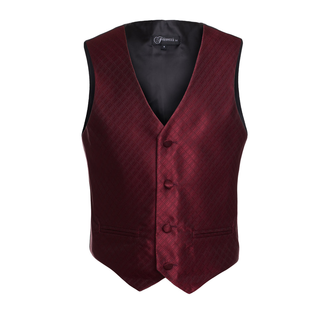 Ferrecci Boys 300 Series Vest Set Dark Red - FHYINC best men