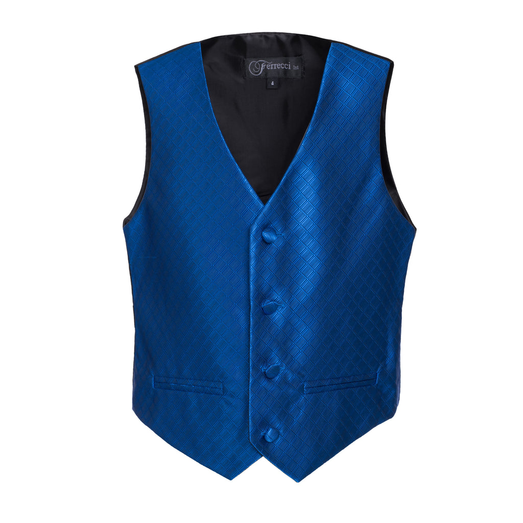 Ferrecci Boys 300 Series Vest Set Royal Blue - FHYINC best men