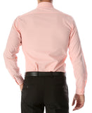 Leo Mens Pink Slim Fit Cotton Dress Shirt - FHYINC best men's suits, tuxedos, formal men's wear wholesale