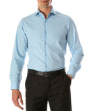 Leo Mens Sky Blue Slim Fit Cotton Dress Shirt - FHYINC best men's suits, tuxedos, formal men's wear wholesale