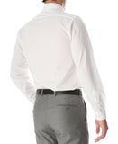 Leo Mens Slim Fit Snow White Dress Shirt - FHYINC best men's suits, tuxedos, formal men's wear wholesale