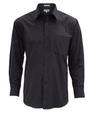 Lucasini Mens Black Regular Fit 300 Series Dress Shirt - FHYINC best men's suits, tuxedos, formal men's wear wholesale