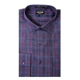 Lucasini Men's Purple Slim Fit Dress Shirt - FHYINC best men's suits, tuxedos, formal men's wear wholesale