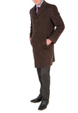 'Marc' Men's Wool Brown Top Coat - FHYINC best men's suits, tuxedos, formal men's wear wholesale
