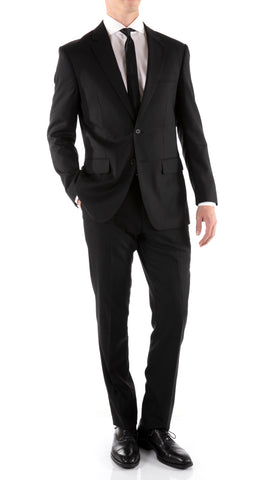 Mason Black Men's Premium 2pc Premium Wool Slim Fit Suit