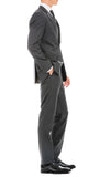 Mason Heather Grey Men's Premium 2pc Premium Wool Slim Fit Suit - FHYINC best men's suits, tuxedos, formal men's wear wholesale