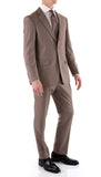 Mason Sand Men's Premium 2pc Premium Wool Slim Fit Suit - FHYINC best men's suits, tuxedos, formal men's wear wholesale