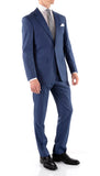 Mason Slate Men's Premium 2pc Premium Wool Slim Fit Suit - FHYINC best men's suits, tuxedos, formal men's wear wholesale