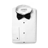 Ferrecci Men's Max White Slim Fit Wing Tip Collar Pleated Tuxedo Shirt - FHYINC best men's suits, tuxedos, formal men's wear wholesale
