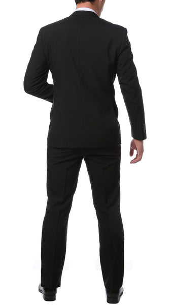 Paul Lorenzo MM Classic Black Slim Fit 2pc Suit