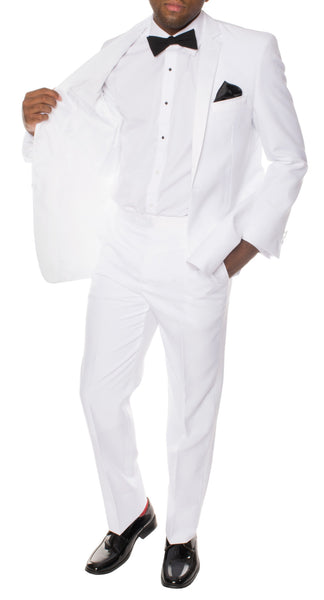 Ferrecci Mens White MMTUX Slim Fit Tuxedo 2pc Suit