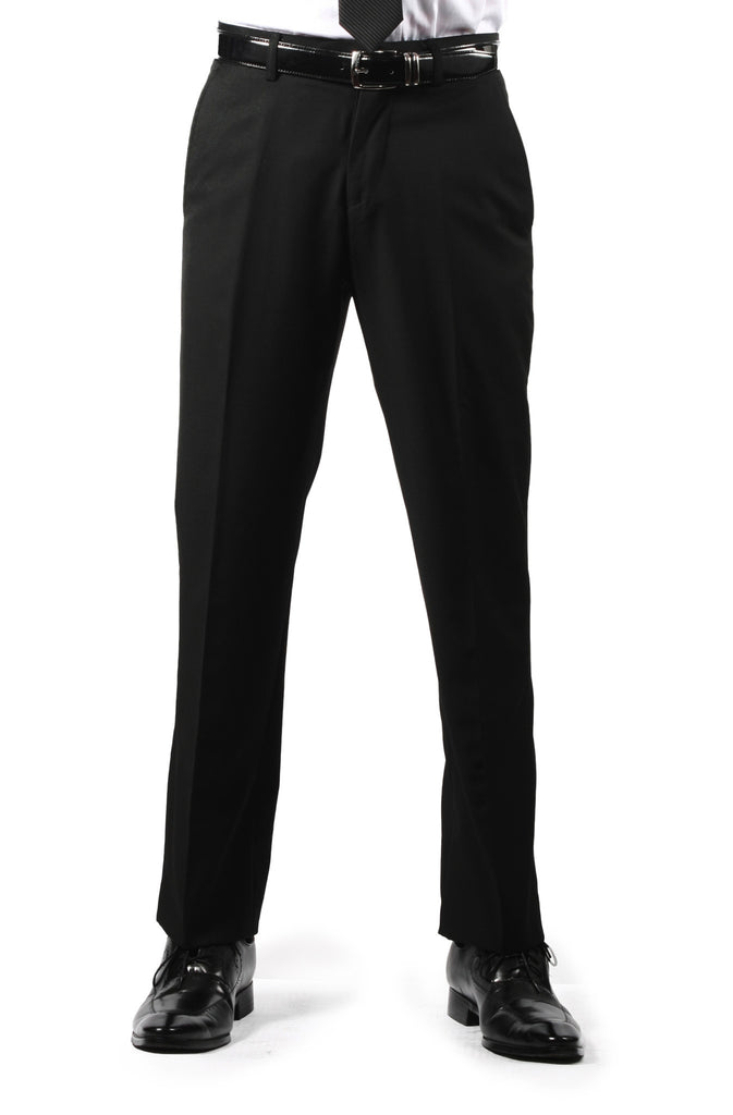 Premium Mens MP101 Black Regular Fit Dress Pants - FHYINC best men