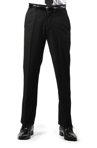 Premium Mens MP101 Black Regular Fit Dress Pants
