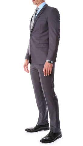 Oslo Charcoal Slim Fit Notch Lapel 2 Piece Suit