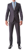 Oslo Charcoal Slim Fit Notch Lapel 2 Piece Suit - FHYINC