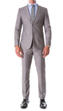 Oslo Grey Slim Fit Notch Lapel 2 Piece Suit - FHYINC
