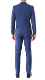 Oslo Indigo Slim Fit Notch Lapel 2 Piece Suit - FHYINC